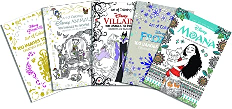 Art of Coloring: Disney Animals, Villains, Moana, Princess and Frozen Bundle