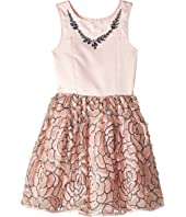 Nanette Lepore Kids Matte Satin with Necklace Trim and Embroidered Organza (Little Kids/Big Kids)