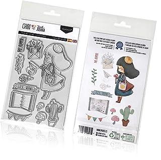 PARAES Tampons scrapbooking silicone photopolymère (13 pièces individuelles) - Sweet Juliana - Haute qualité - Scrapbook -...