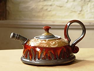Ceramic Teapot with Colorful Hand Painted Decoration