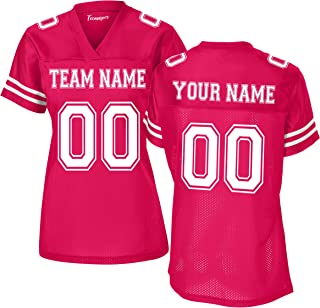 Custom Replica Football Jerseys for Women Add Your, Team Name and Number