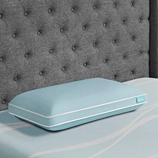 Tempur-Pedic TEMPUR-Cloud + Cooling ProHi Pillow, Memory Foam, King, Blue