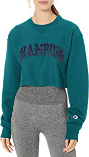 Women's Vintage WASH Reverse Weave Cropped Block Champion Arch