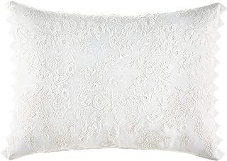 Laura Ashley Wisteria Throw Pillow, 12 x 16, White