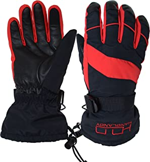 Women Ski Snowboard Gloves, Warm Insulated 3M Thinsulate Thermal Gloves
