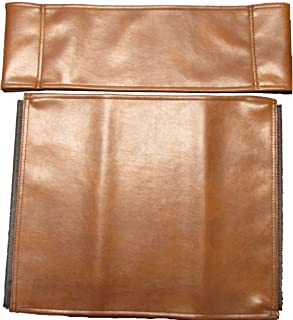 Gold Medal Leather Replacement Cover Set for Directors Chair (Round Stick) - Saddle