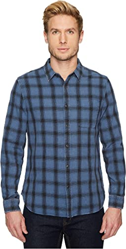 AG Adriano Goldschmied - Colton Long Sleeve Washed Plaid Shirt in 15 Years Faded Pacific Coast/Black