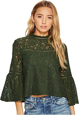 Jack by BB Dakota - Miley Floral Lace Bell Sleeve Top