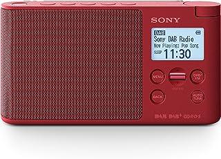 Sony XDRS41DR.EU8 - Radio portátil Digital (Dab/Dab+/FM, Altavoz, 5 presintonías Digitales y 5 analógicas, Pantalla LCD, Temporizador, Adaptador CA) Rojo
