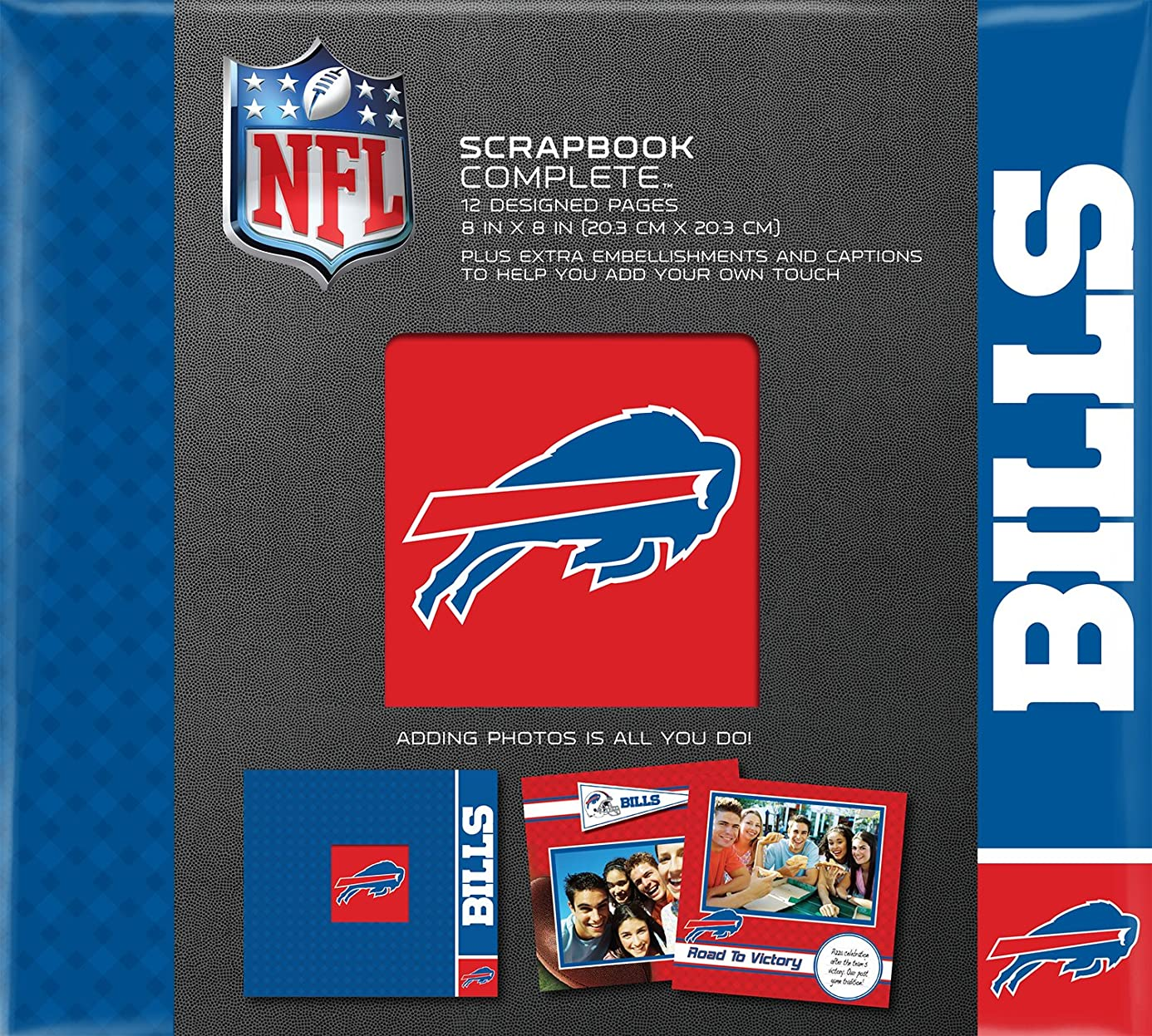 C.R. Gibson Scrapbook Complete Kit, Small, Buffalo Bills (N878396M)