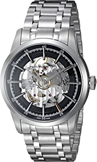 Men's Timeless Classic Swiss-Automatic Watch with Stainless-Steel Strap, Silver, 22 (Model: H40655131)