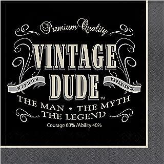 Vintage Dude Napkins, 48 ct