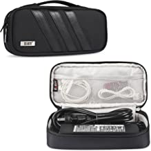BUBM Carrying Bag for AC Adapter, Travel Organizer for Laptop Charger, Pouch Cover Case for Power Cord and Other Accessories, Black