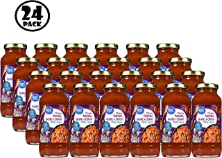 (Pack of 24) Great Value Chunky Tomato Garlic & Onion Pasta Sauce, 24 oz