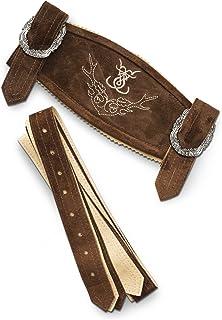 Schöneberger Men`s Bavarian Suspenders for Lederhosen - Oktoberfest Leather Trousers Suspenders Classic