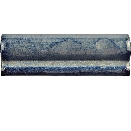 2 x 6 Green//Blue//Brown SomerTile WCVASAMC Antigue Special Agua Marina Ceramic Moldura Wall Trim Tile