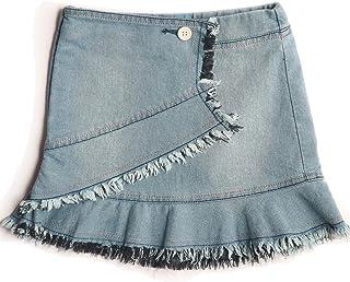 kid studio Girls Denim Skirt for Kids Jeans Slip On Short Kilt, Blue, 1-10 Years