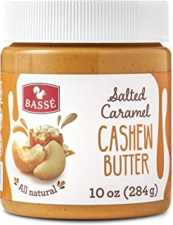 Basse All Natural Cashew Butter with Salted Caramel, Smooth and Creamy, Gluten Free 10 Oz (1 Jars)