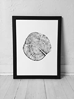 Grand Teton National Park Pine Tree Print. Original Tree Ring Print. 18x24