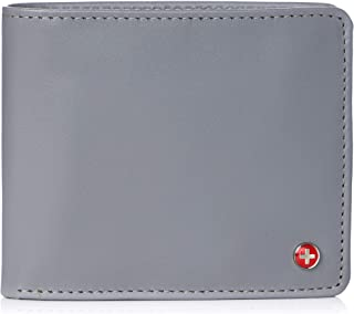 Alpine Swiss Men's RFID Luka Flip Id Wallet Deluxe Capacity Id Bifold With Divided Bill Section Camden Collection
