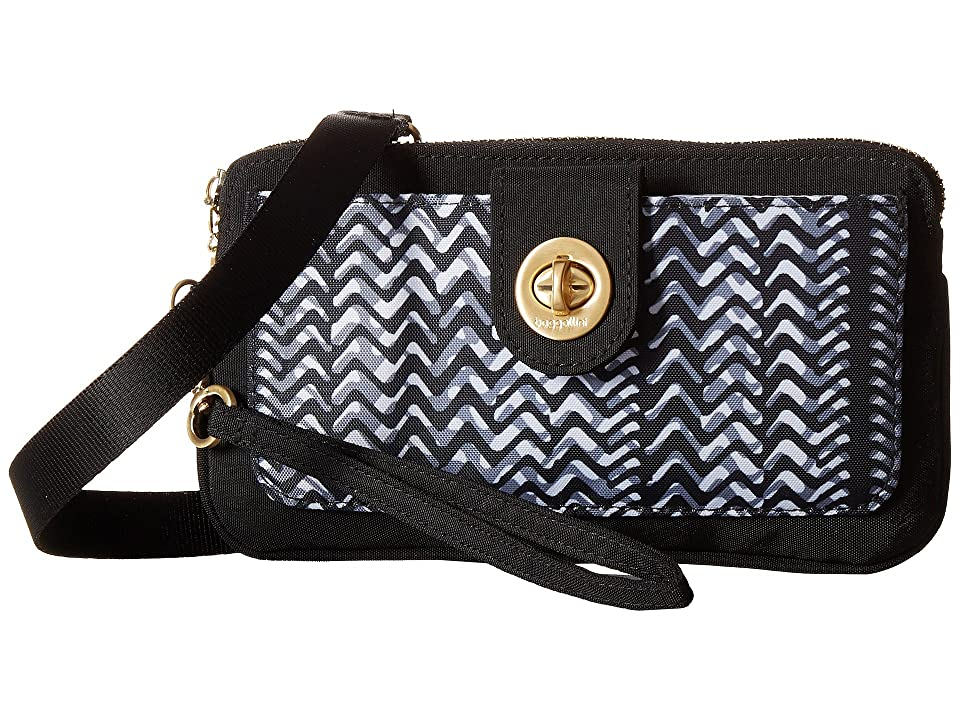 Baggallini Gold Lisbon RFID Wristlet (Black/White Illusion Print) Wristlet Handbags