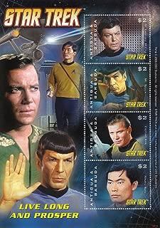 Star Trek Live Long and Prosper - Spock, Kirk, McCoy, Sulu Collectible Postage 3022
