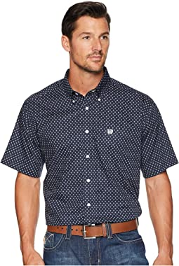 Short Sleeve Plain Weave Print
