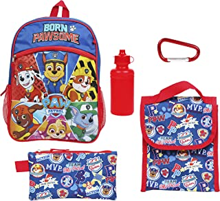 Paw Patrol Backpack 5 Pc. Set for Boys & Girls, 16 in. Skye & Friends Backpack w/Paw Patrol Lunch Bag & Pencil Case