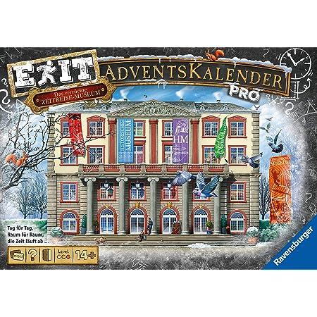 Ravensburger 18958 - EXIT Adventskalender pro - Das verrückte Zeitreisemuseum - 24 Rätsel für EXIT-Begeisterte ab 14 Jahren