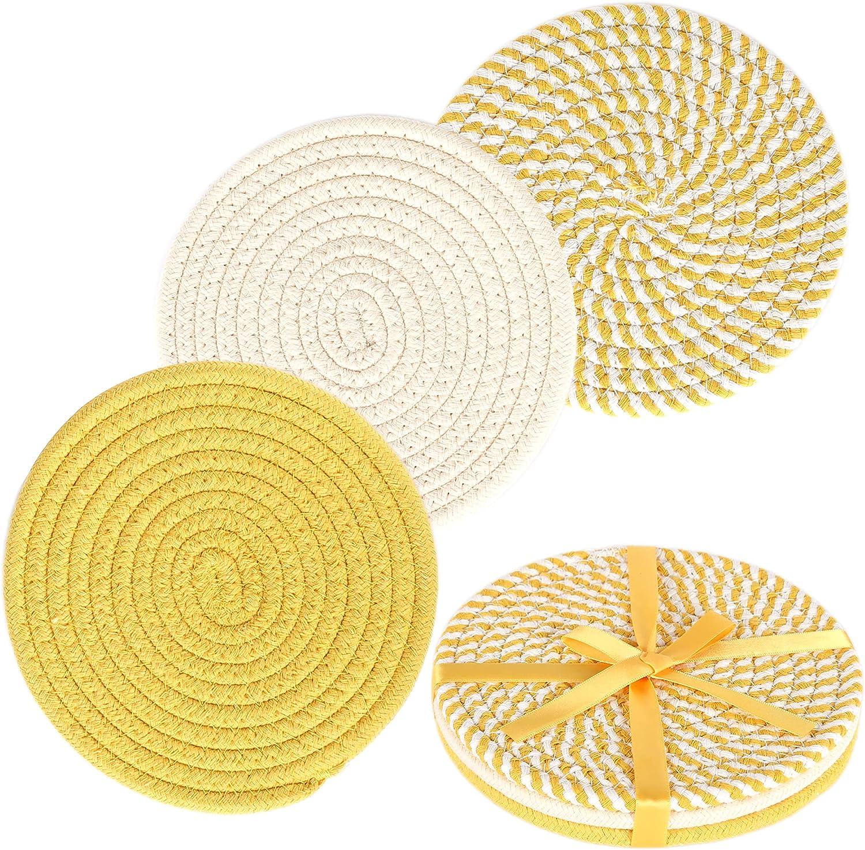 KAKAMAY Pot Holders for Kitchen Trivet 100% Thread Under blast sales Cotton Reservation Set We