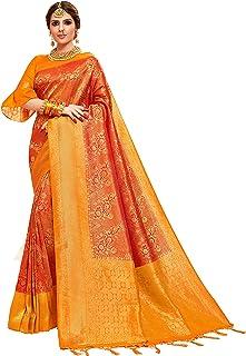 ساري للنساء من باناراسي الفن الحرير ل هدية الديوالي الهندية التقليدية هدية ساري مع بلوزة غير مخيطة