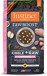Instinct Raw Boost Toy Breed Dry Dog Food, Grain Free High Protein Kibble + Natural Freeze Dried Raw Dog Food