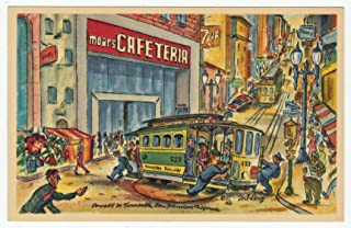 Moars Cafeteria, San Francisco, California Vintage Original Postcard #1685 - 1950's