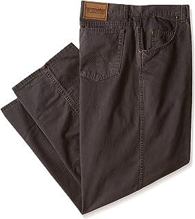 بنطلون Wrangler رجالي كبير طويل متين مقاس Xlarge مريح ذو ساق مستقيمة