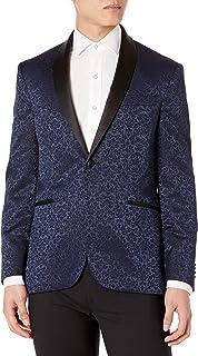 Kenneth Cole REACTION Men's Fancy Evening Jacket, Blue Floral, 48 Regular