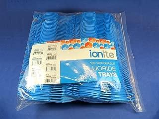 100x Fluoride Arch Foam Trays Dental Dual LARGE Blue Pack Disposable Cubetas