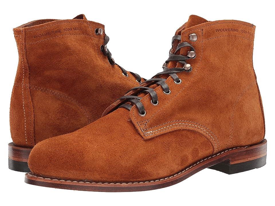 Wolverine Heritage Original 1000 Mile 6 Boot (Amber Suede) Men