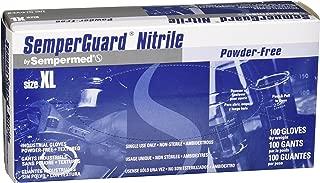 Sempermed EXL-100 4-mil Blue Nitrile Gloves-Extra Large-Box/100, X-Large