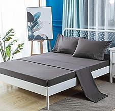 1000TC Ultra Soft Sheet Set Flat Sheet + Fitted Sheet + 2 Pillowcases Bed Sheet Set Brushed Microfiber