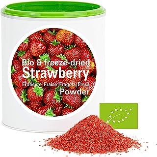 Fresa en Polvo - Liofilizado|biológico|vegano|crudo|pura fruta|no