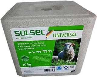 Solsel Mineralleckstein Universal ohne Kupfer 10 kg für Schafe Rinder Pferde Wild