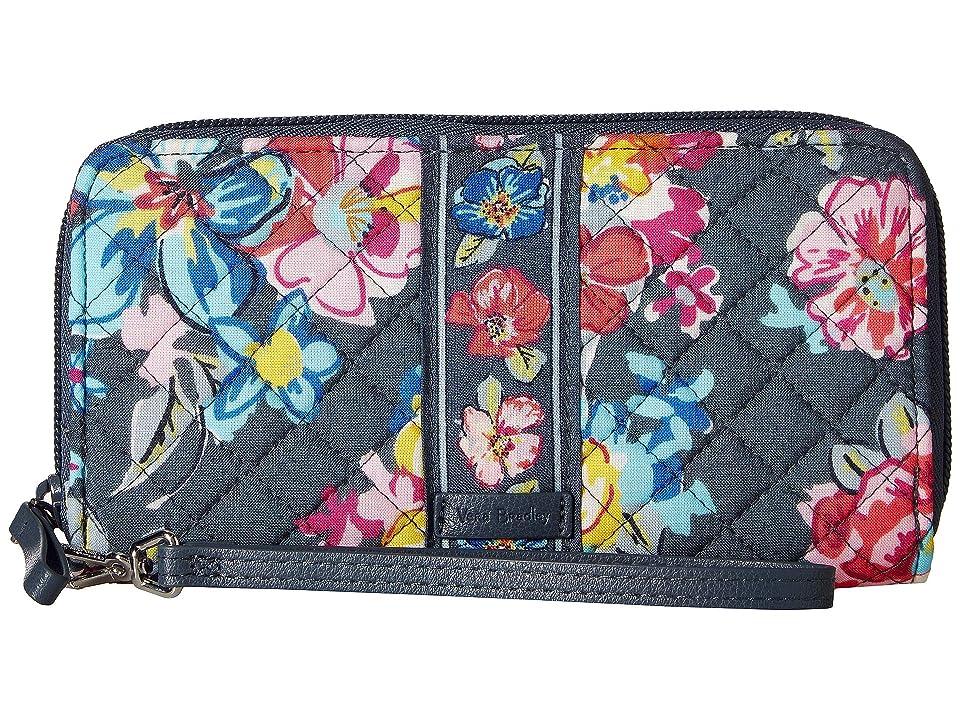 Vera Bradley Iconic RFID Accordion Wristlet (Pretty Posies) Wristlet Handbags