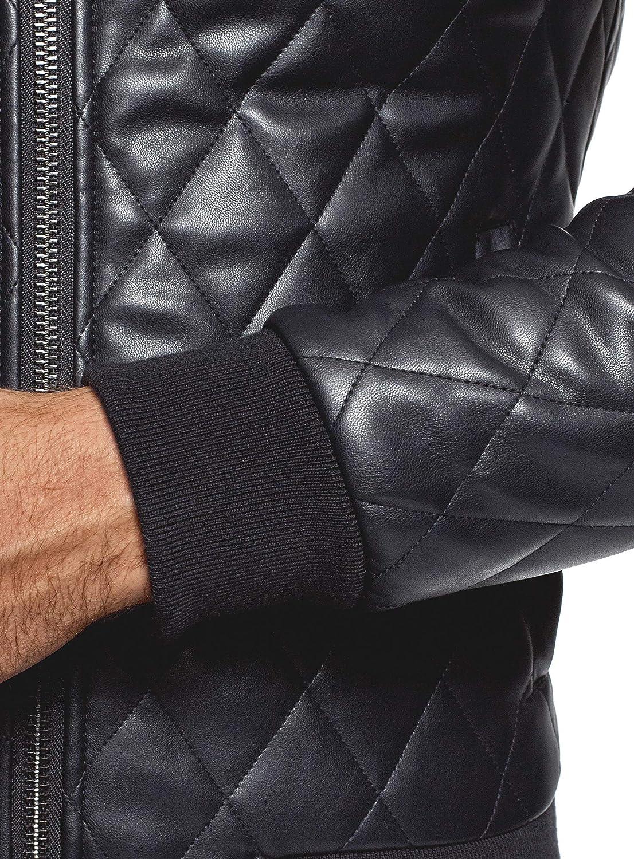 oodji Ultra Men's Faux Leather Bomber Jacket