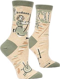 Blue Q Socks, Women`s Crew, Archer, Green, Women`s Shoe Size 5-10