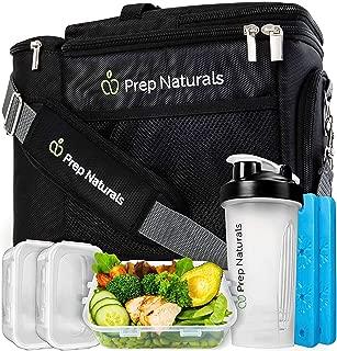 Bolsa térmica para llevar almuerzo - Bolsa de almuerzo aislada para llevar comida – Bolsa refrigeradora reutilizable con recipientes – Bolsa térmica aislada para hombres y mujeres
