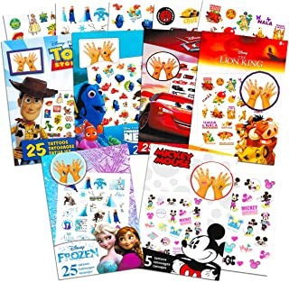 Disney Tattoos Party Favors Mega Assortment ~ Bundle Includes 6 Disney Favorites Temporary Tattoo Packs Featuring Toy Story, Frozen, Cars, Lion King and More (Over 150 Tattoos!)