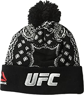 Reebok UFC Adult Women Fanwear Cuffed Knit, One Size, Black
