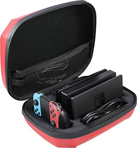 AmazonBasics Ultimate Storage Case for Nintendo Switch - Red