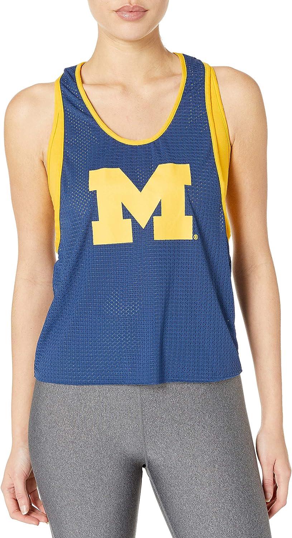 nuyu Women's University of Michigan-Mesh Tank W/Sporty Bralette