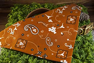 University Of Texas UT Longhorns Paisley Print Pet Bandana No-Tie